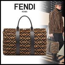 FENDI Monogram A4 Boston Bags