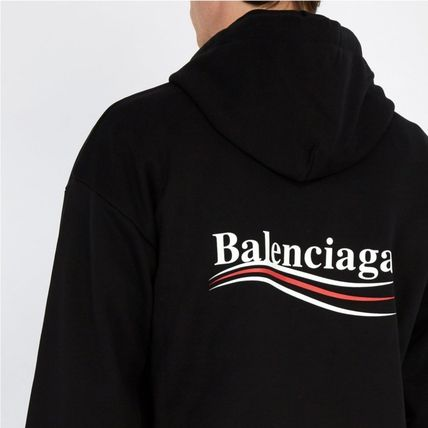 BALENCIAGA Hoodies Long Sleeves Plain Cotton Hoodies 4