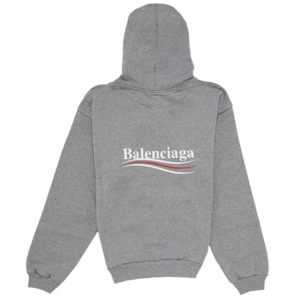 BALENCIAGA Hoodies Long Sleeves Plain Cotton Hoodies 6