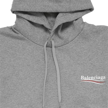 BALENCIAGA Hoodies Long Sleeves Plain Cotton Hoodies 7