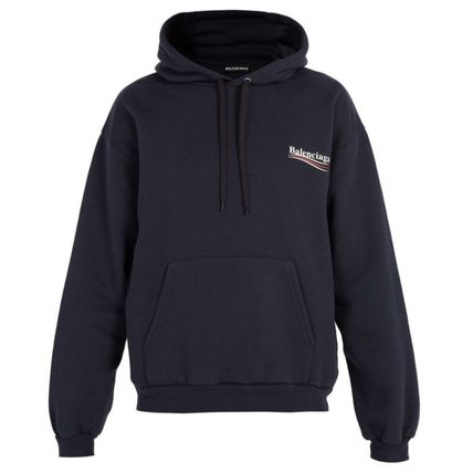 BALENCIAGA Hoodies Long Sleeves Plain Cotton Hoodies 8