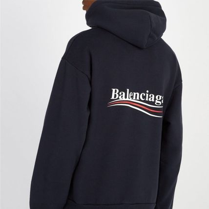 BALENCIAGA Hoodies Long Sleeves Plain Cotton Hoodies 10