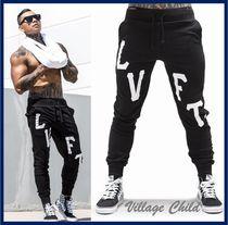 Live Fit Tapered Pants Sweat Street Style Plain Tapered Pants