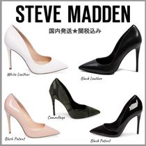 Steve Madden Camouflage Plain Leather Pin Heels Pointed Toe Pumps & Mules
