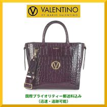 Mario Valentino A4 Other Animal Patterns Leather Office Style Handbags
