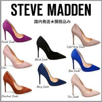 Steve Madden Suede Plain Pin Heels Pointed Toe Pumps & Mules