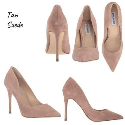 14c0d0c82a5 Steve Madden Pointed Toe Suede Plain Pin Heels Pointed Toe Pumps   Mules ...