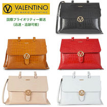 Mario Valentino Casual Style A4 2WAY Plain Other Animal Patterns Leather