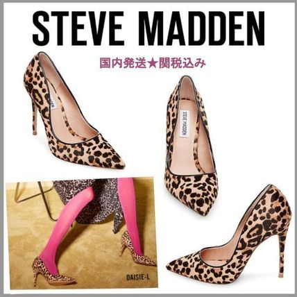 e108197dc97 ... Steve Madden Pointed Toe Leopard Patterns Pin Heels Pointed Toe Pumps    Mules ...