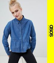 ASOS Casual Style Denim Long Sleeves Shirts & Blouses