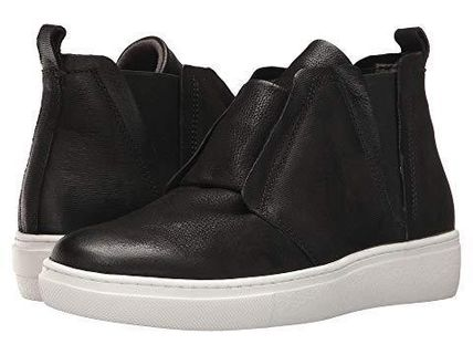 Platform Casual Style Plain Leather