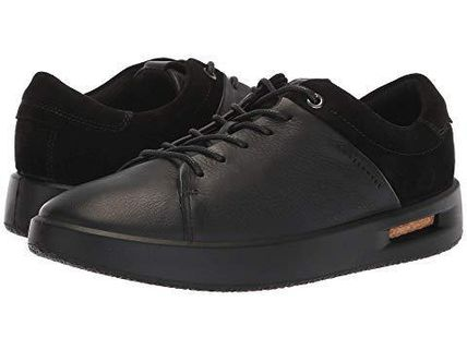 Platform Lace-up Casual Style Plain Leather