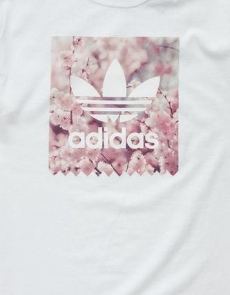 adidas Crew Neck Crew Neck Flower Patterns Unisex Street Style Cotton 3
