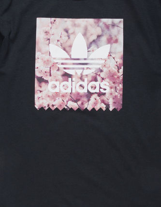 adidas Crew Neck Crew Neck Flower Patterns Unisex Street Style Cotton 5