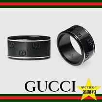 GUCCI Street Style 18K Gold Rings