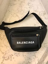 BALENCIAGA EVERYDAY TOTE Unisex Calfskin Street Style Plain Hip Packs