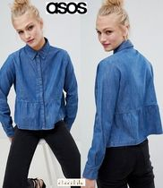 ASOS Casual Style Denim Long Sleeves Plain Shirts & Blouses