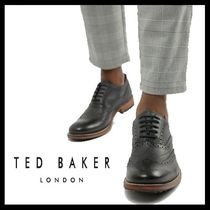 TED BAKER Wing Tip Plain Leather Oxfords