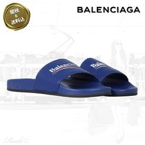 BALENCIAGA Plain Leather Shower Shoes Shower Sandals