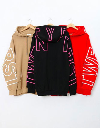 Hoodies Unisex Street Style Long Sleeves Cotton Oversized 10