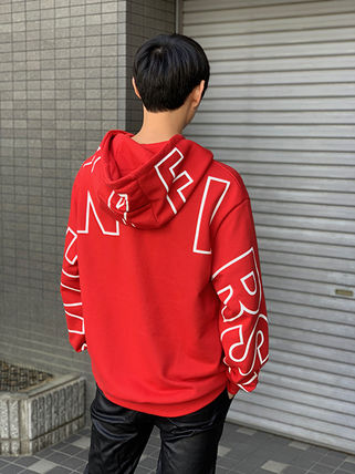 Hoodies Unisex Street Style Long Sleeves Cotton Oversized 4