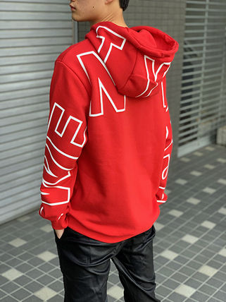 Hoodies Unisex Street Style Long Sleeves Cotton Oversized 9