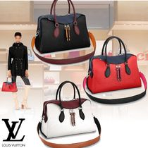 Louis Vuitton EPI Plain Leather Elegant Style Handbags