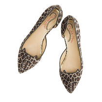 Charlotte Olympia Leopard Patterns Velvet Office Style Pointed Toe Shoes
