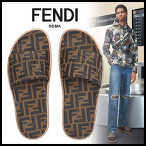 FENDI Monogram Shower Shoes Shower Sandals