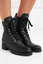 PRADA Lace-up Leather Lace-up Boots