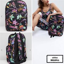 adidas Flower Patterns Casual Style Unisex Street Style Backpacks 31c139996cd4a