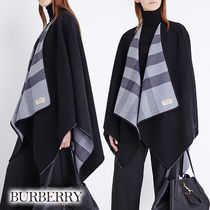 Burberry Other Check Patterns Casual Style Unisex Wool Street Style