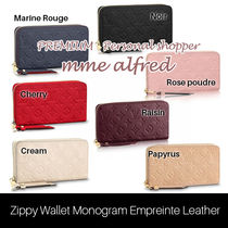 Louis Vuitton MONOGRAM EMPREINTE Monoglam Leather Long Wallets
