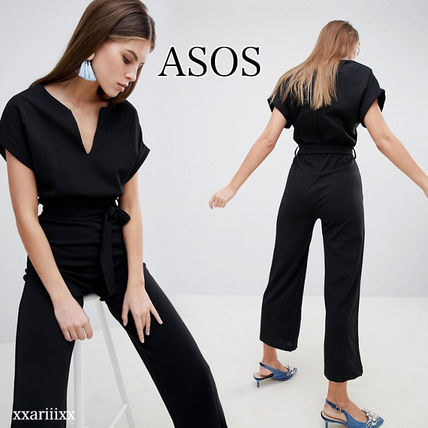 ASOS Dresses Dungarees V-Neck Plain Long Short Sleeves Home Party Ideas