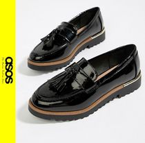 ASOS Casual Style Faux Fur Loafer Pumps & Mules