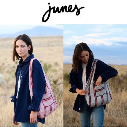 Stripes Other Check Patterns Casual Style A4 Totes