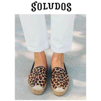 Leopard Patterns Platform Round Toe Casual Style Faux Fur