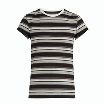 Maison Martin Margiela Stripes Henry Neck Cotton Short Sleeves Henley T-Shirts