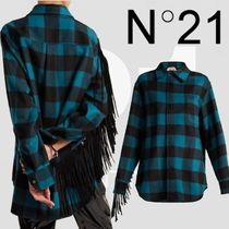 N21 numero ventuno Other Check Patterns Wool Long Sleeves Shirts & Blouses