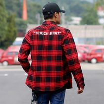 Off-White Button-down Other Check Patterns Long Sleeves Shirts