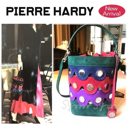 Casual Style Suede Studded 2WAY Purses Handbags