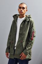 ALPHA INDUSTRIES Street Style Plain Long Parkas