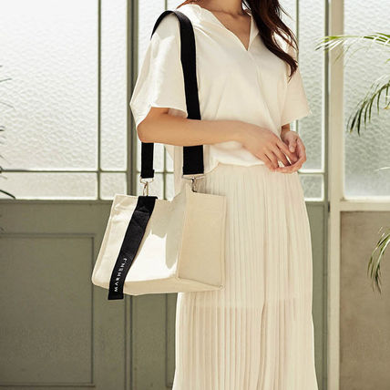 Casual Style Canvas 2WAY Plain Crossbody Shoulder Bags
