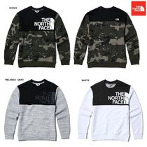 THE NORTH FACE Nuptse Crew Neck Camouflage Unisex Low Gauge Street Style