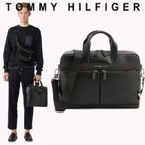 Tommy Hilfiger Faux Fur Street Style A4 Plain Business & Briefcases