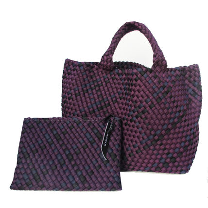 Other Check Patterns Nylon A4 Office Style Totes