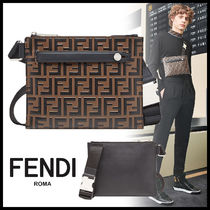 FENDI Monogram 2WAY Leather Bags