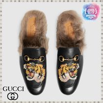 GUCCI Princetown Leather Shoes