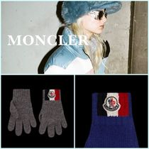 MONCLER Stripes Casual Style Wool Plain Gloves Gloves