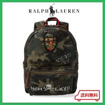 Ralph Lauren Skull Camouflage Casual Style Unisex Canvas Street Style A4